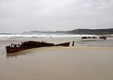 Shipwreck of British built steamboat revealed by bad weather in Galicia