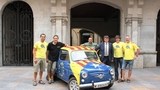 Catalan nationalists travelling to Scotland in a Seat 600 for referendum