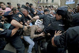 Merkel visit to Galicia marred by violent protests