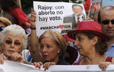 Anti-abortion protesters threaten to block votes for Spanish government